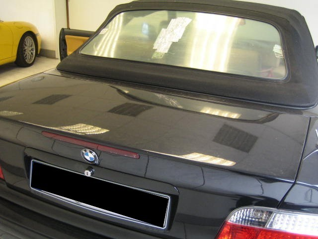 bmw e36 cabrio heckfenster instandgesetzt cabrioverdeck service helf. Black Bedroom Furniture Sets. Home Design Ideas