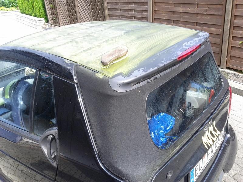 Smart Cabrio Verdeck Reinigen